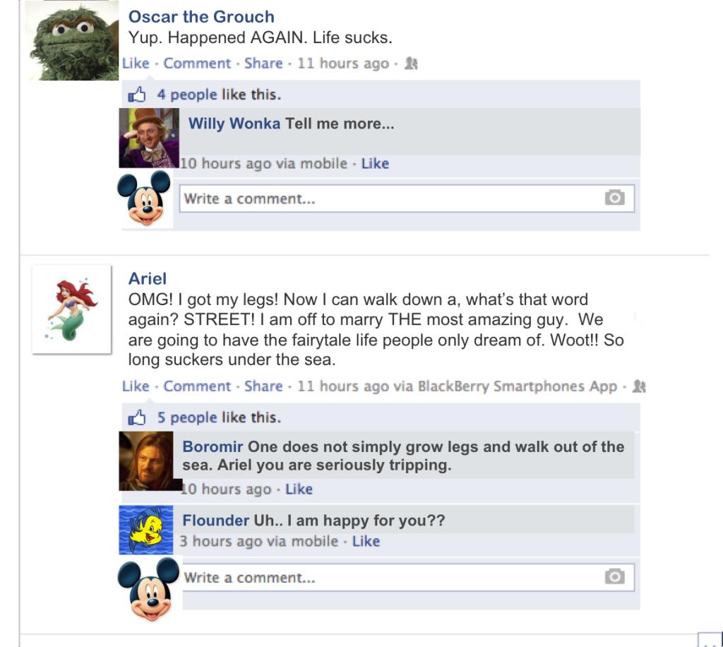 FB Ariel status