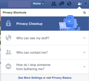 Facebook Privacy Checkup 2016