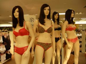 Mannequins in underwear