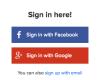 Signing In Using Social Media Logins