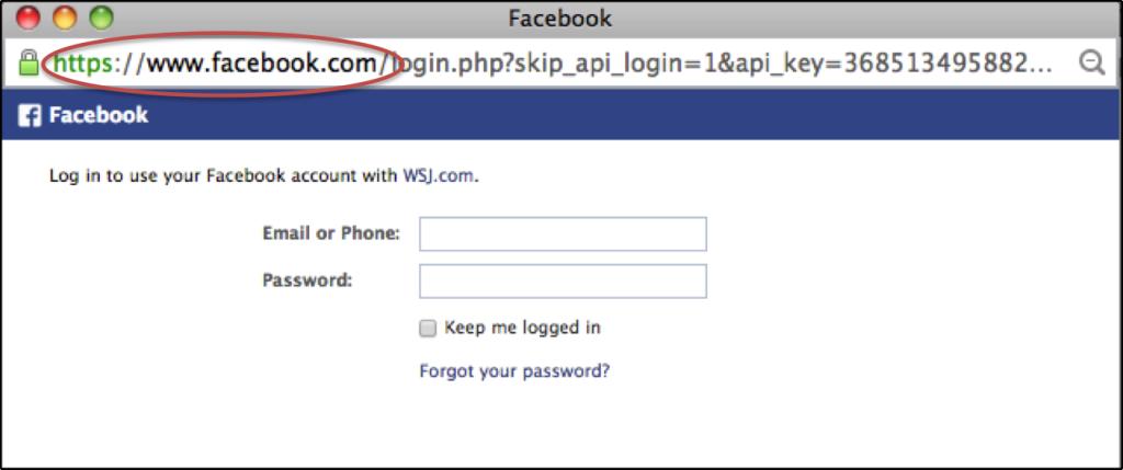 Facebook login - short