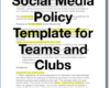 Creating a Social Media Policy For Your Club or Team