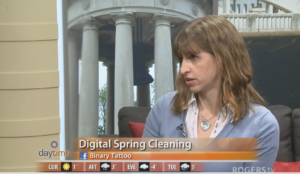 Daytime screen shot - Digital Spring Cleaning
