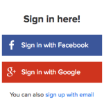 Signing In Using Social Media Logins