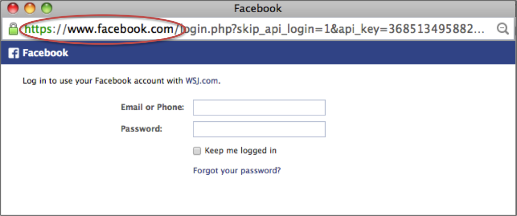 Facebook login - short