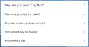 troll - report LinkedIn
