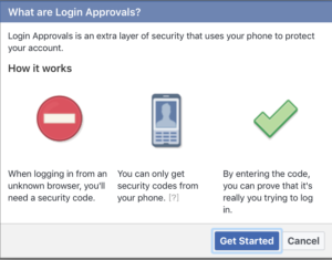MFA Facebook login approvals
