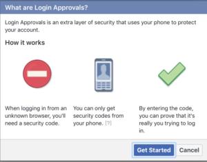 MFA Facebook login approvals