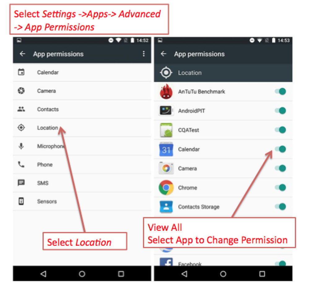 Android LBS App Permissions 2017